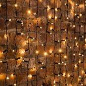 """235-146; Гирлянда """"Светодиодный Дождь"""" 2х3м, постоянное свечение, черный провод, 230 В, диоды теплый белый, 760 LED"""