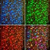 """245-309; Гирлянда """"Светодиодный Дождь"""" 2х1.5м, прозрачный провод, 230 В, диоды RGB, 300 LED свечение с динамикой при приобретении контроллера 245-907"""
