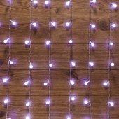 """235-045; Гирлянда """"Светодиодный Дождь"""" 1.5x1.5 м, с насадками шарики, свечение с динамикой, прозрачный провод, 230 В, диоды белый"""