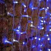 """235-223; Гирлянда """"Светодиодный Дождь"""" 2х1.5м, эффект мерцания, белый провод, 230 В, диоды СИНИЕ, 360 LED"""