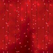 """235-132; Гирлянда """"Светодиодный Дождь"""" 2х3м, постоянное свечение, белый провод, 230 В, диоды КРАСНЫЕ, 760 LED"""