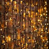 """237-126; Гирлянда """"Светодиодный Дождь"""" 2х1.5м, постоянное свечение, черный провод """"КАУЧУК"""", 230 В, диоды теплый белый, 360 LED"""