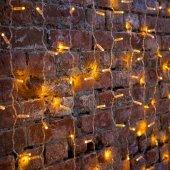 """235-301-6; Гирлянда """"Светодиодный Дождь"""" 2х1.5м, постоянное свечение, прозрачный провод, 230 В, диоды ЖЁЛТЫЕ, 192 LED"""