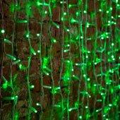 """237-114; Гирлянда """"Светодиодный Дождь"""" 2х1.5м, постоянное свечение, белый провод """"КАУЧУК"""", 230 В, диоды ЗЕЛЕНЫЕ, 360 LED"""