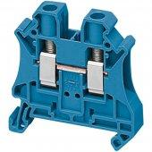 Клеммник винтовой проходной сечением провода 6мм² 2 точки подключения ; NSYTRV62BL