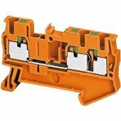 Клеммник Pit проходной 3 точки 2.5мм,оранжевый; NSYTRP23AR
