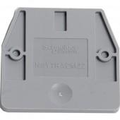 Торцевая крышка для мини-клеммников 2,5-4мм, серая; NSYTRACM22