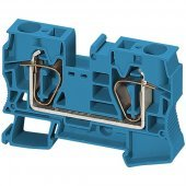 Клеммник пружинный проходной 16 мм² 2тчк. синий; NSYTRR162BL