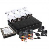 45-0412; Комплект видеонаблюдения, 4 наружные FullHD камеры, с HDD 1Tб
