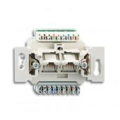 Механизм 2-постовой компьютерной/телефонной розетки UAE 8/8 полюсов раздельно RJ45 категория 6е неэкранированная до 2; 0230-0-0470