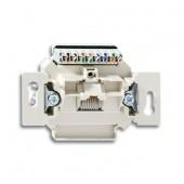 Розетка компьютерная/телефонная UAE RJ45 категория 6е с наклонным выходом 1 разъем; 0230-0-0399