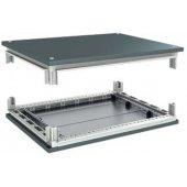 R5KTB1010 Комплект, крыша и основание, 1000x1000мм (ШхГ) для шкафов серии CQE сталь, цвет железно-серый RAL 7011