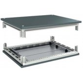 R5KTB1012 Комплект, крыша и основание, 1000x1200мм (ШхГ) для шкафов серии CQE сталь, цвет железно-серый RAL 7011