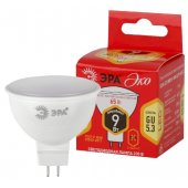 Лампа светодиодная LED 9Вт MR16 2700К GU5.3 тёплый софит; Б0032972