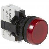 Лампа-индикатор Osmoz в сборе с подсветкой красный 230В; 023791