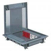 Напольная коробка 50мм с крышкой под ковровое покрытие 16 модулей; 088070