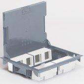 Напольная коробка с глубиной 65мм неукомплектованная 8х2 модуля антикоррозийное покрытие; 089625