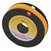 12-6061; Маркеры на кабель, ø 3.6...7.4 мм, цифры 0-9, комплект 10 роликов (EC-2)