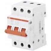 Рубильник (выключатель нагрузки) трехполюсный 3P SHD203/16 рычаг красный; 2CDD273111R0016