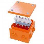 FSB31404 Коробка ответвительная FS с кабельными вводами и клеммниками, 150х150х80мм, 6 вводов, max ф32мм, 4р, 450V, 6A, 4мм.кв стальная, IP55, RAL 2003