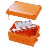 FSB11404 Коробка ответвительная FS с кабельными вводами и клеммниками, номинально 100х100х50мм, 6 вводов, max ф25мм, 4р, 450V, 6A, 4мм.кв, термопласт, IP55, RAL 2003