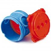 59382 Коробка установочная для заливки в бетон круглая номинальный ф70, глубина 137мм, 4 ввода ф20мм, 2 ввода ф25мм, полипропилен
