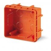 DIS5720200 Коробка для скрытого монтажа разъемов для разеток с основанием 136х125мм, цвет оранжевый, IP66