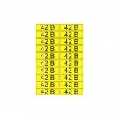 55-0003; Наклейка знак электробезопасности «42 В» 15х50 мм (20шт на листе)
