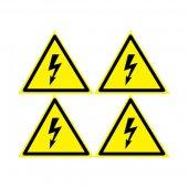 56-0006-3; Наклейка знак электробезопасности «Опасность поражения электротоком» 130х130х130 мм 5шт.