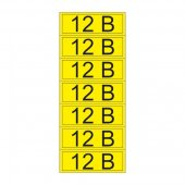 55-0001-1; Наклейка знак электробезопасности «12 В» 35х100 мм (7 шт на листе)