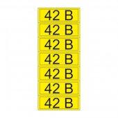 55-0003-1; Наклейка знак электробезопасности «42 В» 35х100 мм (7 шт на листе)