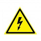 56-0006-5; Наклейка знак электробезопасности «Опасность поражения электротоком» 160х160х160 мм
