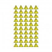 56-0006-1; Наклейка знак электробезопасности «Опасность поражения электротоком» 25х25х25 мм 100 шт.