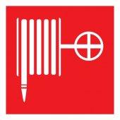 """56-0054; Наклейка знак пожарной безопасности """"Пожарный кран""""100x100 мм"""