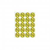 56-0059; Наклейка знак электробезопасности «N» d - 20 мм (20шт на листе)