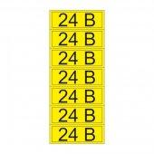 55-0002-1; Наклейка знак электробезопасности «24 В» 35х100 мм (7 шт на листе)