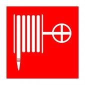 56-0055-1; Наклейка знак пожарной безопасности «Пожарный кран» 150х150 мм