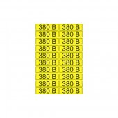56-0008-1; Наклейка знак электробезопасности «380 В» 15х50 мм (20шт на листе)