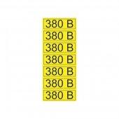 56-0008-2; Наклейка знак электробезопасности «380 В» 35х100 мм (7шт на листе)