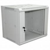 """04-2220; 19"""" Настенный шкаф 6U 600×600×370 мм (ШxГxВ) - передняя дверь стекло, боковые стенки съемные (разобранный), RAL 7035"""