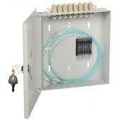 FOBX8-N-8LCUD09; Оптический настенный распределительный кросс укомплектованный: LC (Duplex) 8шт, (OS2)
