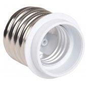 EPR31-01-01-K01; Патрон-переходник с цоколя Е40 на Е27 пластик белый ПР40-27-К02