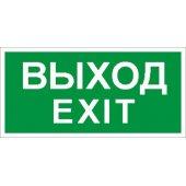 """Пиктограмма ПЭУ 011 """"Выход/Exit"""" (335х165) PC-L LYRA; 2502000950"""