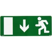 060964; Информационная табличка для аварийных светильников человек бегущий вниз 227х90мм