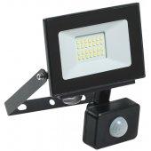 LPDO602-20-65-K02; Прожектор светодиодный ДО-20вт LED СДО 06-20Д черный с ИК датчиком IP54 6500K