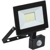 LPDO602-30-65-K02; Прожектор светодиодный ДО-30вт LED СДО 06-30Д черный с ИК датчиком IP54 6500K