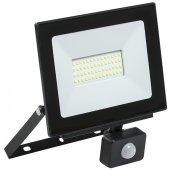 LPDO602-50-65-K02; Прожектор светодиодный ДО-50вт LED СДО 06-50Д черный с ИК датчиком IP54 6500K