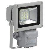 LPDO502-10-K03; Прожектор светодиодный ДО-10вт с ИК датчиком 6500К 800Лм IP44 СДО05-10Д серый