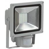 LPDO502-20-K03; Прожектор светодиодный ДО-20вт с ИК датчиком 6500К 1600Лм IP44 СДО05-20Д серый