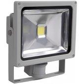 LPDO102-10-K03; Прожектор светодиодный ДО-10вт c ИК датчиком 6500К 800Лм IP44 СДО01-10Д серый